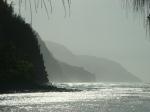 View of Na Pali coast from Ke'e Beach, Kauai