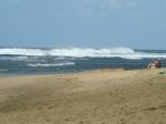 View of the surf from Ke'e Beach, Na Pali, Kauai