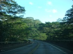 Driving to Kilauea from Princeville, Kauai